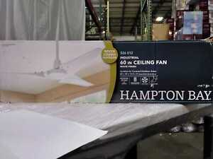 Hampton Bay Industrial 60 in. Indoor/Outdoor White Ceiling Fan with Wall Control