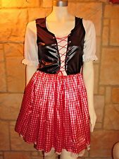 GERMAN BAVARIAN OKTOBERFEST BEER MAID BAR WENCH HEIDI GRETCHEN COSTUME SIZE M