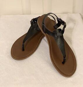 Women's Universal Threads Black Strapy Sandals