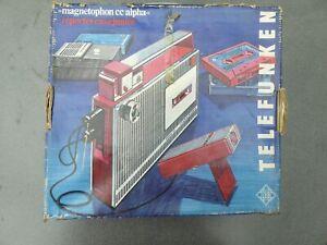 Telefunken Magnethophon CC alpha Kassettenrecorder m.Verpackung