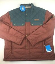 Columbia Mens 2XL Ridgestone Red Blue Full Zip Water Resistent Winter Jacket