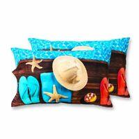 Coppia Federe Per Guanciale Gold Heart I Love Sleeping Stampa Digitale 3D Cot...