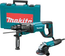 "Makita HR2641X1 1"" AVT® SDS‑PLUS bits (D‑handle) Rotary Hammer and 4‑1/2"" Angle"