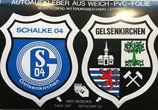FC Schalke 04 GE Aufkleber Sticker Logo Bundesliga Fussball Stadtwappen #424