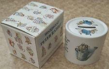 Vtg Wedgwood Peter Rabbit Bank Porcelain Money Box Beatrix Potter Bunny Art Box