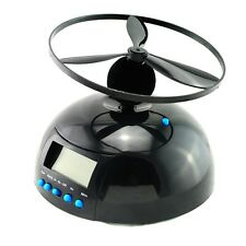Flying UFO Propeller Helicopter Blade LCD Alarm Clock with snooze function