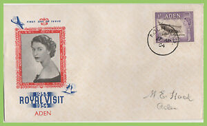 Aden 1954 Royal Visit on illustrated First Day Cover