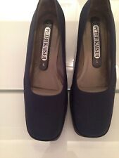 Peter Kaiser All Leather Womans Shoes Size 4 New Navy Coloured Wedge