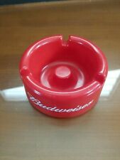 Vintage Budweiser Round Red Plastic Ashtray 3 Slots