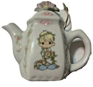 Precious Moments Girl Teapot Shaped Hanging Ornaments 1994 340324