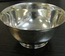 """PAUL REVERE REPRODUCTION ONEIDA SILVERSMITH 4"""" BOWL SILVERPLATED"""