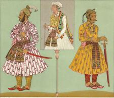 Décoration Costume Inde India - ChromoLithographie XIXème