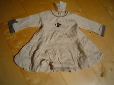Wi 12/13 CATIMINI spirit city robe, ecru taille 9m-12m