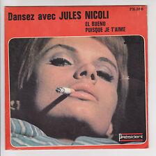 Jules NICOLI Accordéon Vinyle 45T EL BUENO Cigarette Musette PRESIDENT 386 RARE