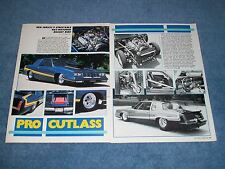 "1984 Oldsmobile Cutlass Pro Street Vintage Article ""Pro Cutlass"" Olds"