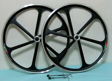"CNC New Mag Alloy 26"" Black Bike Rims For MTB 8/9 Gears, Disc/U, V Brake"
