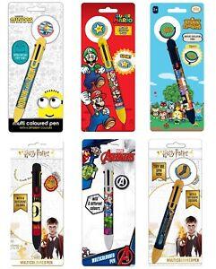 Genuine Branded Multi Coloured Pen Stationery Harry Potter Marvel Minions