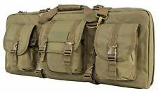 "VISM Short Double Rifle Case 28"" Tactical Small Rifle Bag Carbine Rifle Bag TAN-"