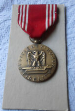 Vintage US Army Bronze Good Conduct Medal circa WWII on Original Card