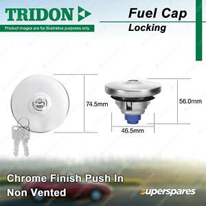 Tridon Locking Fuel Cap Chrome Finish Push In for Jaguar XJS XJC 5.3L
