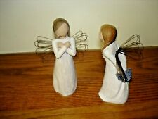Willow Tree Angels ~ lot of 2 figurines ~ Sign for Love 2003 + Thank You 2002