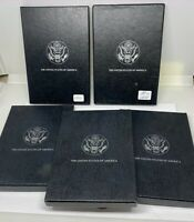 5 Boxes Total - Lot Empty GSA CC Morgan Silver Dollar BLACK BOX  - NO COIN