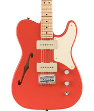 Fender Paranormal Carbronita Telecaster Thinline, Maple Fingerboard, Fiesta Red