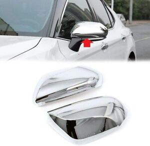 For 2018 2019 2020 2021 Toyota Camry Chrome Side Mirror Covers Trims Overlay
