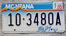 Montana Big Sky Buffalo Skull License Plate 10 = Carbon County - 1995 Sticker