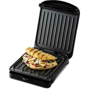 George Forman 3 Portion Versatile Griddle Grill BBQ Cooking Low Fat Non Stick UK