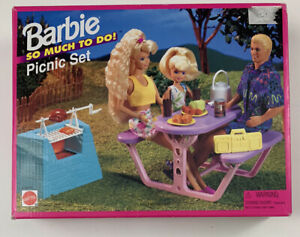 Vintage 1995 Barbie So Much To Do Picnic Set 67032-91