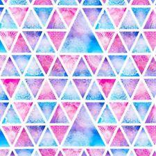 Stoff Jersey Digital Druck Verzierung Dreieck Vintage rosa blau weiß  18€/m