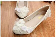 Decolté decolte scarpe donna ballerina bianco pizzo sposa 3.5, 4.5 cm 9338