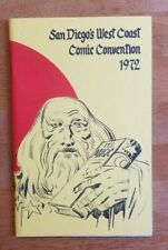 1972 San Diego Comic Con Program SDCC Kirby Cover Caniff Eisner Awesome Shape