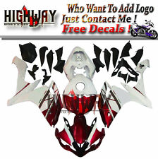 Fairings Fit Yamaha YZF-R1 2007 2008 07 08 ABS Fairing Kit Bodywork Whie Red New
