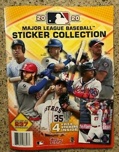 2020 Major League Baseball Sticker Collection Album with 4 Free Stickers