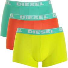 DIESEL Men's Fresh & Bright 3-Pack Boxer Trunk UMBX-Shawn, Green+Orange+Yellow