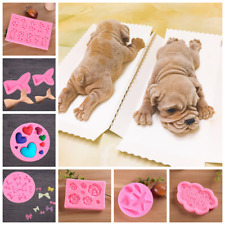 3D Silicone Cake Decor Ice Tray Jelly Mould Chocolate Baking Mold Gift Non Toxic
