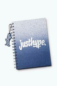 HYPE BLUE SPECKLE A5 NOTEBOOK WITH RUBBER CHARM