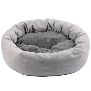 Cat Dog Bed Round Winter Warm Plus Velvet Sleeping Pad Pet Kennel Removable Mat