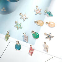 13Pcs/set Conch Sea Shell Pendant Lovely DIY Jewelry Making Handmade Accessories