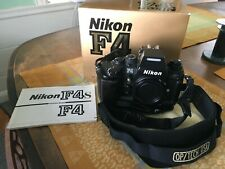 ****USA Nikon F4S Body w/ MB21 Battery Grip Box/ Manual-One Owner- Excellent****