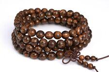 "Beads Natural Wood Round Beads 26"" 6Mm 108 Pcs Fragrant Qinan Sandalwood Mala"