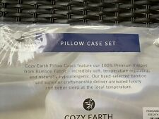 Bamboo Bed Pillowcase Set Cozy Earth White Standard Size