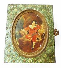 Vintage biscuits tin box early huntley and palmers circa 1920 advertising