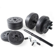 Vinyl Dumbbell Set 40 Lbs Adjustable Weights Home Gym Full Body Fitness Workout