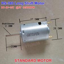 Standard Motor RS-380 20mm DC 5V~9V 6V 12500RPM Long Shaft Motor  DIY Toy Parts