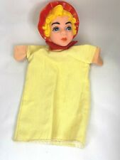 """Vintage Little Red Riding Hood Hand Puppet Plastic Head 11"""" Long"""