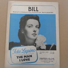 "songsheet BILL ""the man i love"" Ida Lupino 1927"