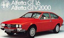 ALFA ROMEO GT 1.6 GTV 2000 Prospekt Deutschland ++++++++++++++++++++++++++++++++